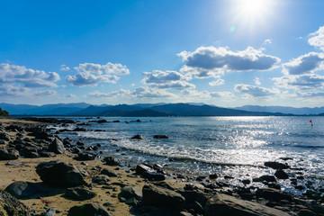 能古島から見た今津湾