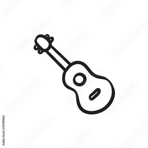 Fotografie, Obraz  Guitar sketch icon.