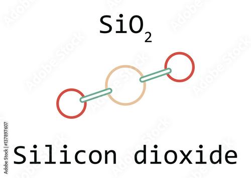Molecule Sio2 Silicon Dioxide Buy This Stock Vector And Explore