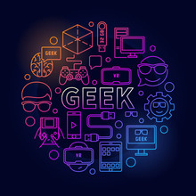 Linear Colorful Geek Illustration