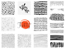 Set Of Scribble Textures And A...