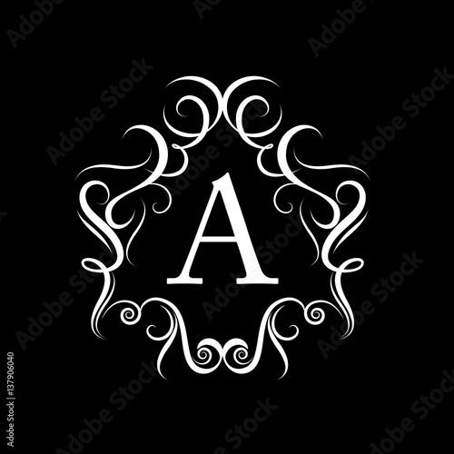Decorative Letter A.Letter A Icon Vector Illustration Graphic Design Monogram