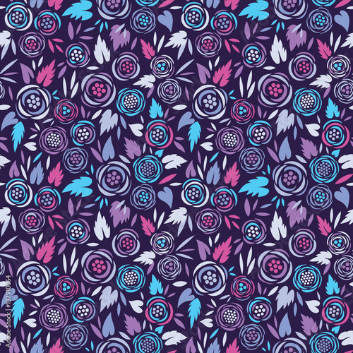 Colorful seamless floral vector pattern
