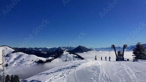 Fotobehang Wintersporten sudelfeld02
