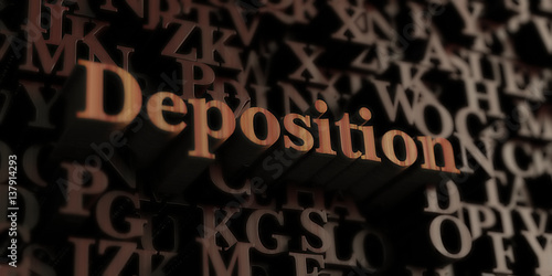 Deposition - Wooden 3D rendered letters/message Wallpaper Mural