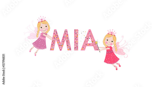 Photo  Mia female name with cute fairy tale