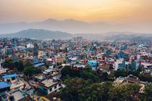 Patan At Sunset  In The Kathmandu Valley, Nepal