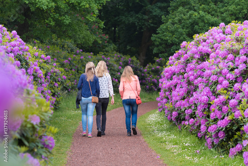 girls in rhododendron park