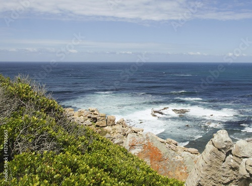 Fotografering  blue Atlantic coast, the Cape of Good Hope, South Africa, Cape Town