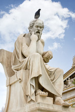 Statue Of Socrates With A Bird...
