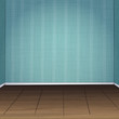 Hand drawn vector illustration of empty room
