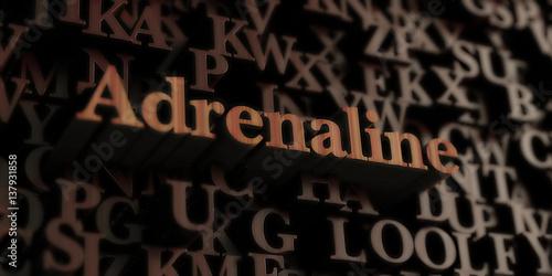 Fotografie, Obraz  Adrenaline - Wooden 3D rendered letters/message