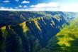 Stunning aerial view of spectacular jungles, Kauai