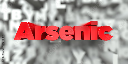 Arsenic -  Red text on typography background - 3D rendered royalty free stock image Canvas Print