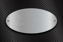 Metal Brushed Oval Plate On Pe...