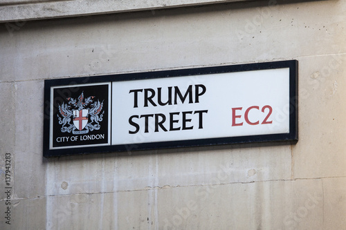 Photo  Trump Street in the City of London.