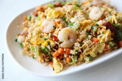 Shrimps fried rice , Chinese food