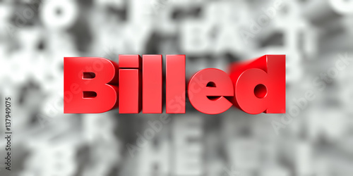 Fotografering  Billed -  Red text on typography background - 3D rendered royalty free stock image