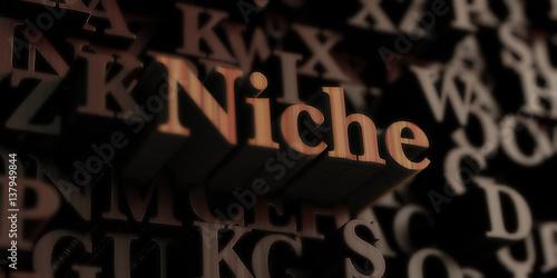 Fotografie, Obraz  niche - Wooden 3D rendered letters/message