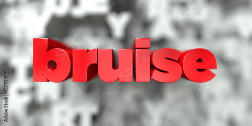 Fotografie, Obraz  bruise -  Red text on typography background - 3D rendered royalty free stock image