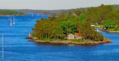 Photo  Stockholm archipelago at sunny evening