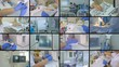 Laboratory, surgery, medical equipment collage Medicine concept 4K