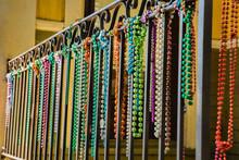 Close-up Of Mardi Gras Beads H...