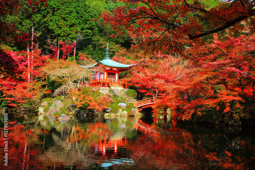 Cadres-photo bureau Kyoto Daigoji with autumn colors, Kyoto