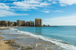 Beach and cityscape of Torrevieja,Spain
