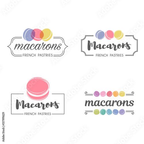 Cuadros en Lienzo Vector logo macaron for shop, boutique, store