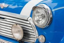 Headlights Of Vintage Car Clos...