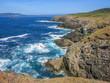 Scenic seascape at Seixo Branco, near Oleiros, A Coruna Province, Galicia
