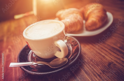 Cappuccino Coffee Time Canvas Print