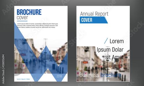 blue set cover business brochure vector designs leaflet advertising
