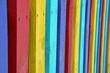 Цветные доски забора