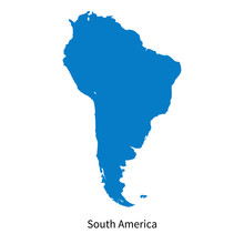 Detailed Vector Map Of South America Region