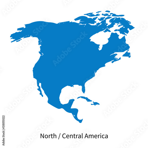 Detailed vector map of North and Central America Region – kaufen Sie ...