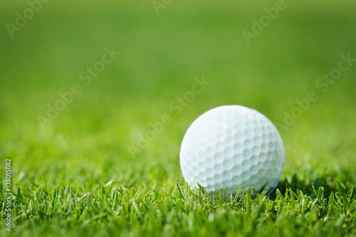 Deurstickers Golf Golf ball in grass