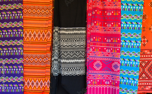 Cloth With Hmong Ethnic Patterns Hmong Are An Ethnic Group From The Classy Hmong Pattern