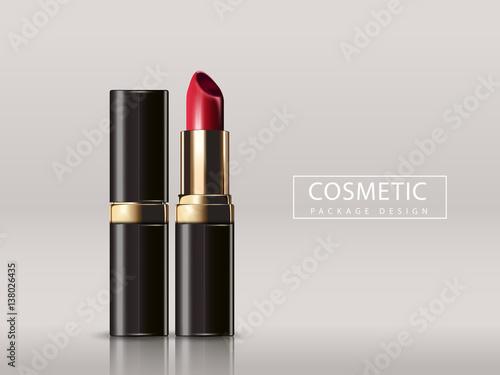 Fotografiet  Red lipstick mockup
