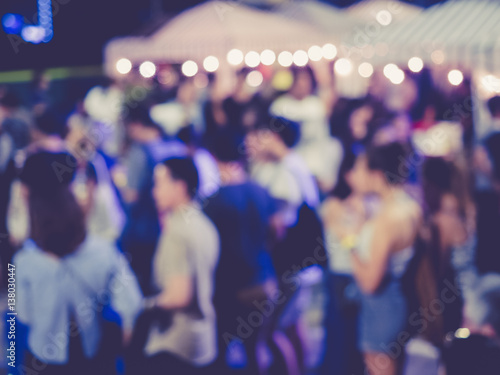 Festival Event Party outdoor with People Blurred Background