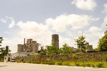 Concrete Factory In Nature