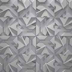 Panel Szklany Podświetlane Industrialny Stylish Metal Tiled Background (3D)