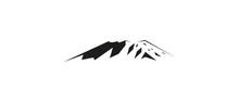 Image Snow Mountains Peak (Kilimanjaro) Logo.  Black And White Tones.