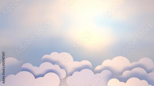 3d-renderingu-obrazek-bialy-chmura-papieru-rzemiosla