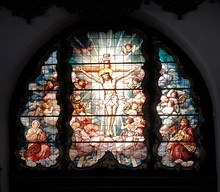 Medieval Stained Glass Pane