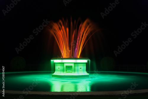 Papel de parede  Illuminated Tom Parker fountain on Marine Parade Napier New Zealand built in 193