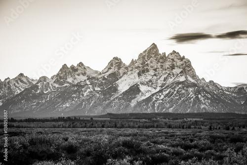Deurstickers Art Studio Beautiful snow-capped mountains. Golden autumn. Grand Teton National Park, Wyoming, USA