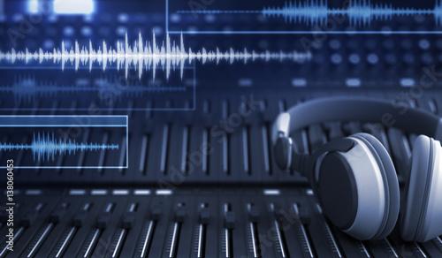Photo  Headphones and Audio Tracks