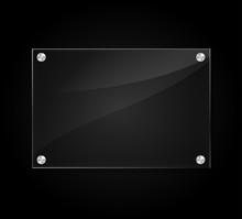 Acrylic Sign On Black Background